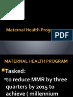 Maternal Health Program