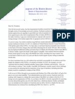 Letter to President - IRGC Designation