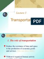 Lecture Five Transportation2