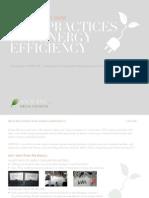 Best Practices for Energy Efficiency