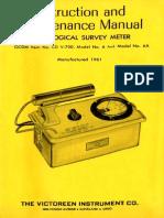 Victoreen CDV 700 manual