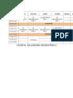 Jadwal Akademik Semester 6