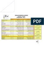 Academic Calender PGPM 2009-11 - 1st Year1