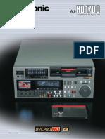 Panasonic AJ HD1700