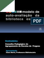 Modelo de auto avaliaçã apresentação
