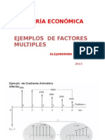 Ejemplos de Factores Multiples