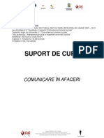 Suport Curs Comunicare in Afaceri
