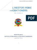 Instructions to Probationers IRSME