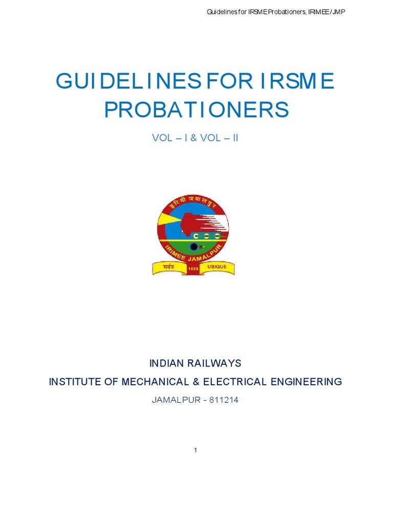 Instructions To Probationers IRSME | Track (Rail Transport) | Rail Transport