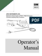 PM 10-2.5 Operator's Manual