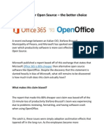 Office365 or Open Source – the better choice