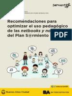 Recomendaciones Para Optimizar El Uso de Las Netbooks y Notebooks