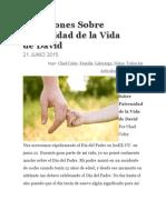 5 Lecciones Sobre Paternidad de La Vida De