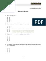 Guía de Ejercicios - Números Complejos