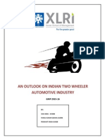 An Outlook on Indian Two Wheeler Industry