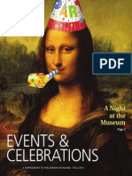 Events and Celebrations, Fall 2015