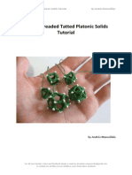 Single-threaded Tatted Platonic Solids Tutorial