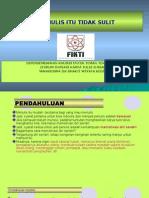 Menulis Itu Mudah (FIKTI) by Jun