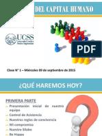 UCSS - GESTIÓN DEL CAPITAL HUMANO - CLASE N° 1