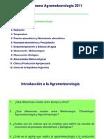 Clase 1 Introduccion a La Agrometeorologia y Ambiente Fìsico