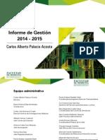 Informe Gestion 2014 2015 Medicina UdeA
