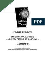 Feuille de Route 2015 - Argentine