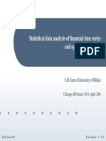Statistical Data Analysis of Financial Time Series and Option Pricingi n R