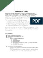 leadership essay assignment