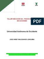 Taller Seccion 26 - Pagos Basados en Acciones