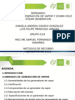 Seminario Generadores de Vapor y DHSG.