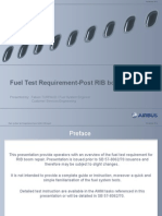 Fuel Test Requirement Post SB RBR