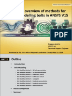 Chicago Comprehensive Guide to Bolt Modeling in Ansys 15 0