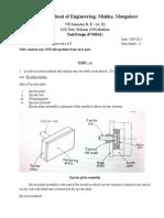 Scheme of Evaluation-I-IA TOOL DESIGN