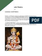 Hanuman Moola Mantra