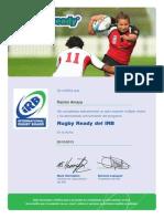 Certificado Rugby Ready i