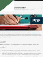 5 consejos p. realizar Indicaciones Médicas