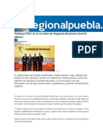 27-10-2015 RegionalPuebla - Participa RMV en La Cumbre de Negocios Business Summit México