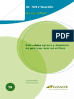 Estructura agraria y dinámica de pobreza rural en el Perú