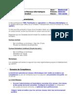 Metier Et Formation - TSRI