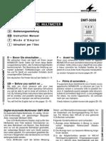 manuale multimetro DMT3030