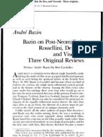 Bazin Post Neo-realism