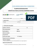 AUTOEVALUACION   DEL DESEMPEÑO DOCENTE