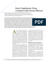 Herbal and Dietary Supplement–Drug Interactions in Patients With Chronic Illnesses