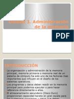 Unidad 3. Administración de Memoria