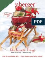 Longaberger Baskets November Flyer