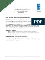 Belize Chemical Management PRODOC