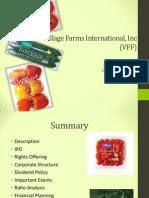 Village Farms Analysis