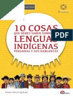 Ministerio del Cultura del Perú, 10 cosas que debes saber sobre lenguas indígenas