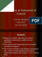 Budget Instrument Management Control