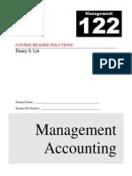 Management 122 Course XXXXZAXReader - Rev J - Solutions